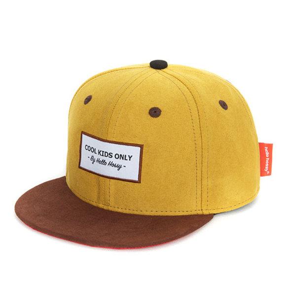 Hello Hossy CAP SUEDE MUSTARD