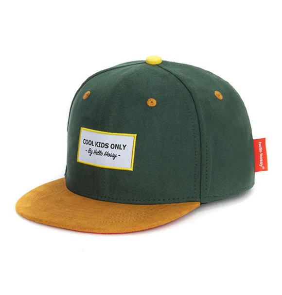 Hello Hossy CAP SUEDE DARK GREEN