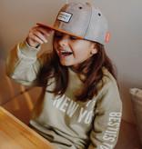 Hello Hossy  ADJUSTABLE CHILDREN'S CAP | SUEDE FABRIC CAP | GRAY BABY CAP