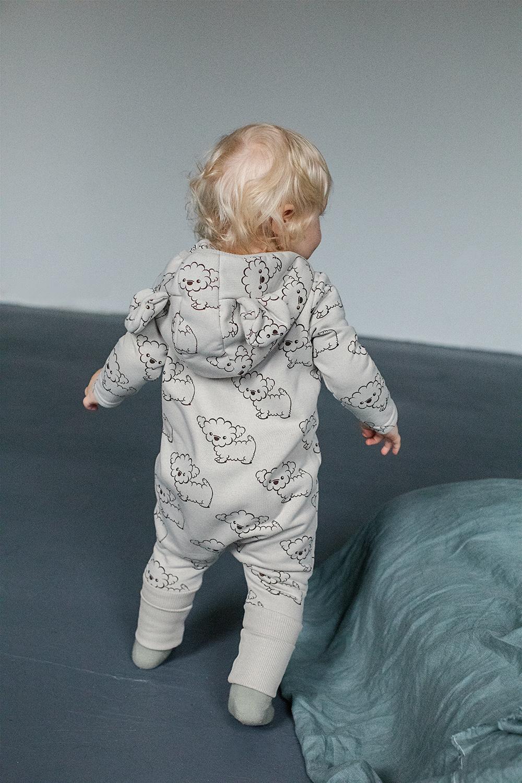 Zezuzulla BABY CLOTHING WITH EARS   JUMPSUIT WITH HOOD   WARM BABY BODYSUIT