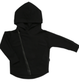 Minikid  BLACK JACKET FOR CHILDREN   STURDY JACKET WITH HOOD   BOY CLOTHING