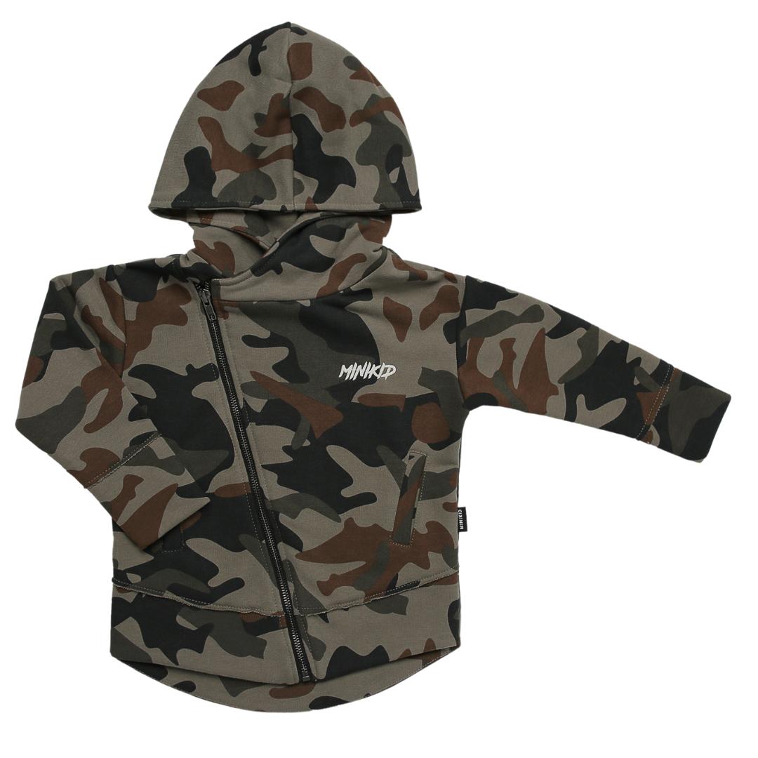 Minikid CAMOUFLAGE JACKET FOR CHILDREN | STURDY JACKET WITH HOOD | BOY CLOTHING