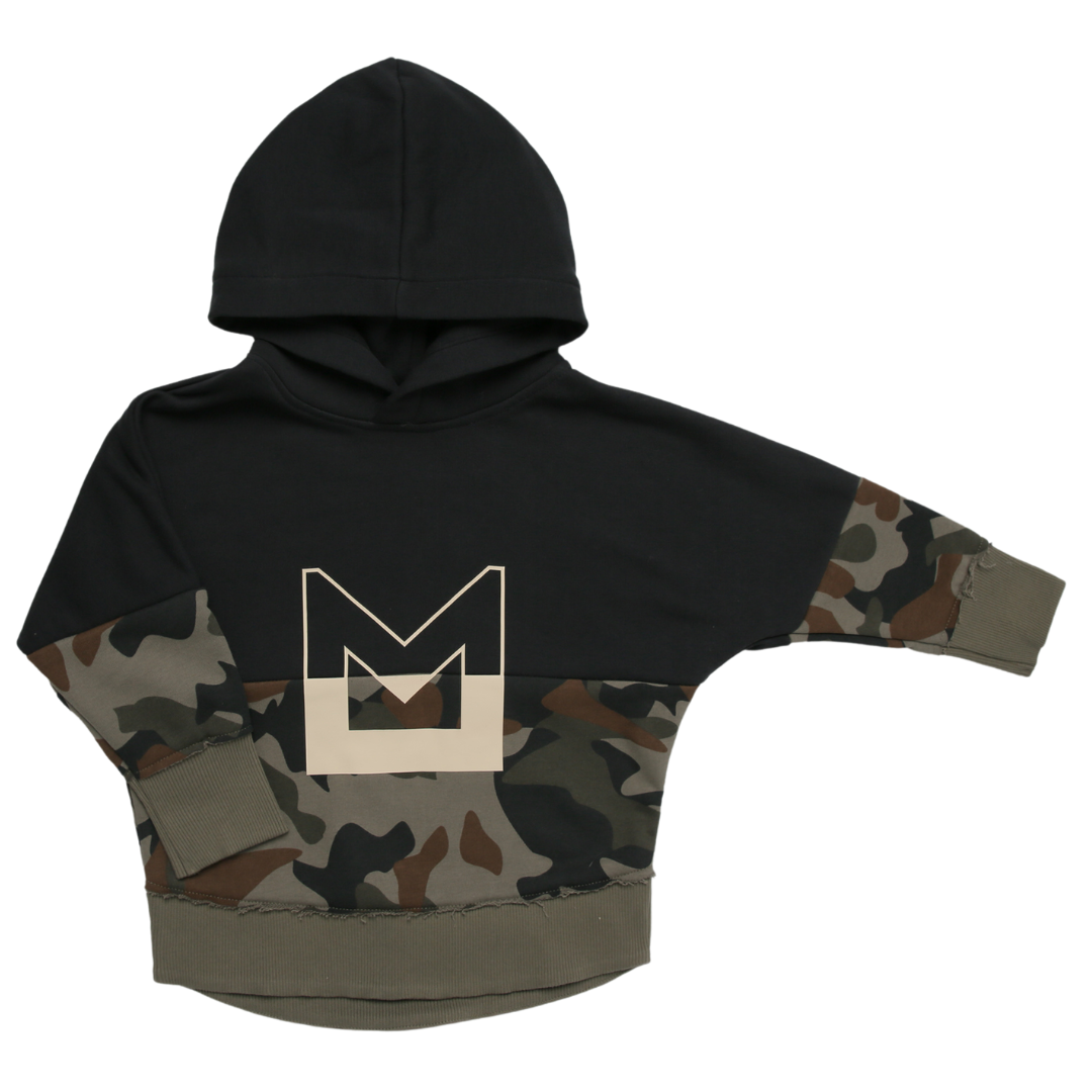 Minikid CAMOUFLAGE HOODIE   HOODED SWEATER   COOL BOYS CLOTHING