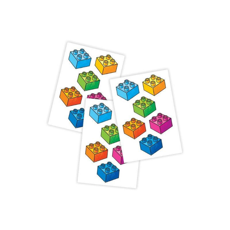 Ducky Street LEGO BLOCKS TATTOO | CHILDREN STICKERS | LEGO TATOOS FOR KIDS