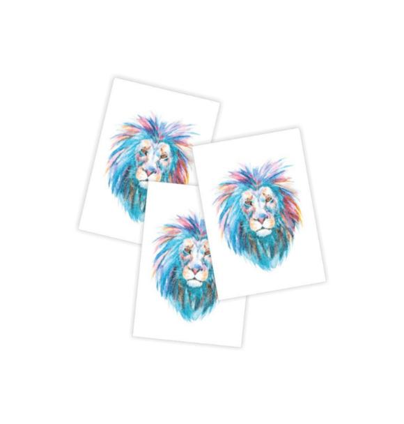 Ducky Street LION TATTOOS (3x)