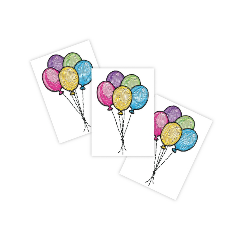 Ducky Street BALLOONS TATTOO | CHILDREN'S TATTOO | CHILDREN'S TATTOO BIRTHDAY