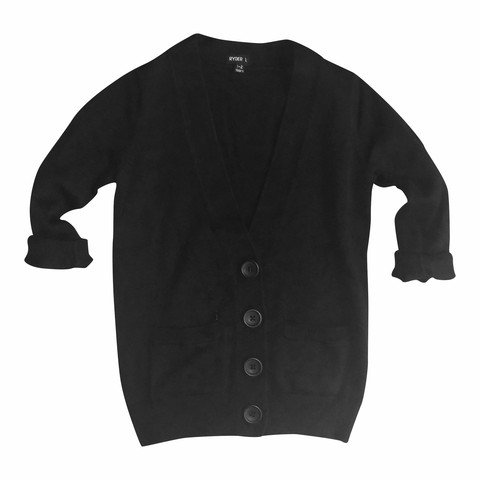 Minis Only OVERSIZED CARDIGAN BLACK - MINIS ONLY
