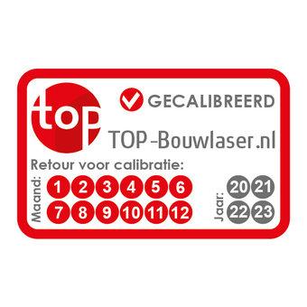 TOP-Bouwlaser Calibratie, ijken, keuren bouwlaser