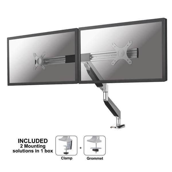 NeoMounts NM-D725DXSILVER Monitorbeugel