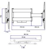 DQ Wall-Support Hercules Flex 400 White TV Beugel