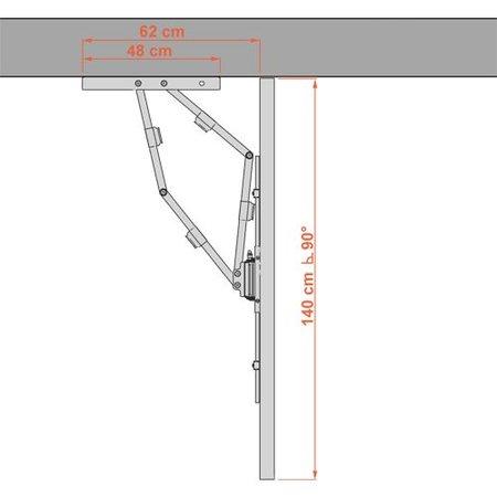 DQ Wall-Support Reach XXL 91 cm Black TV Beugel