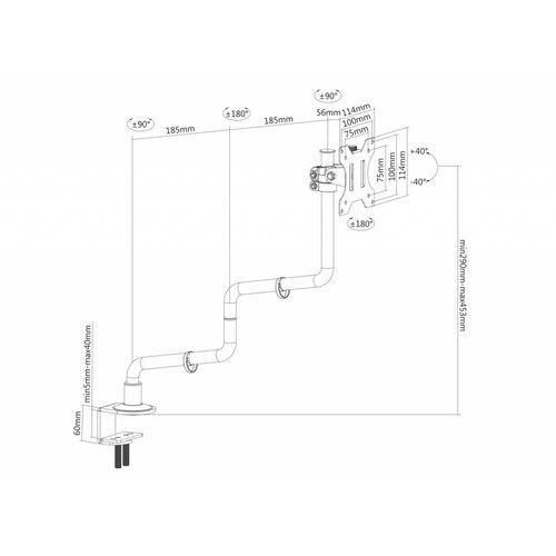 NewStar FPMA-D010BLACK Monitorbeugel