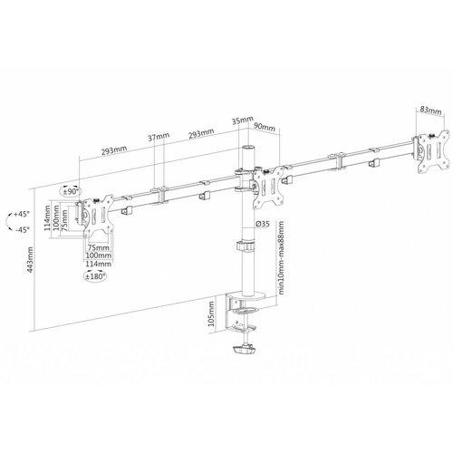 NewStar FPMA-D550D3BLACK Monitorbeugel