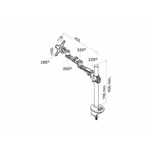 NewStar FPMA-D935G Monitorbeugel