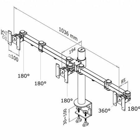 NewStar FPMA-D960D3 Monitorbeugel