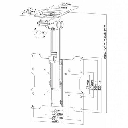 NewStar FPMA-C020BLACK TV Plafondbeugel