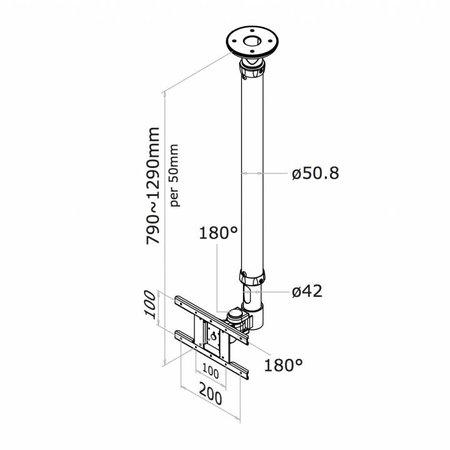 NewStar FPMA-C100 TV Plafondbeugel
