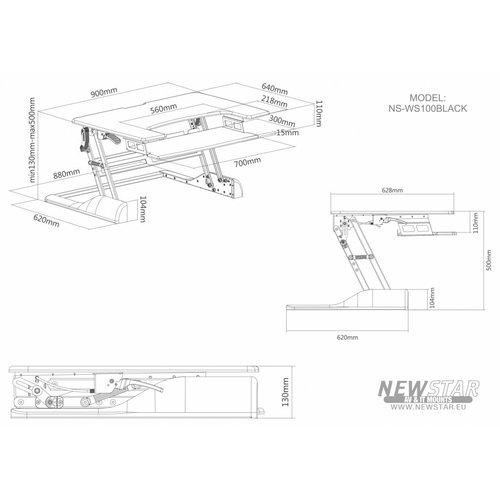 NewStar NS-WS100BLACK zit-sta werkplek