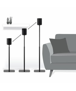 Sonos One / Play:1 set verstelbare standaards zwart (2 stuks)