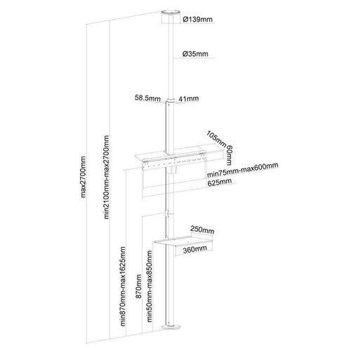 NewStar FPMA-CF200SILVER Plafondbeugel