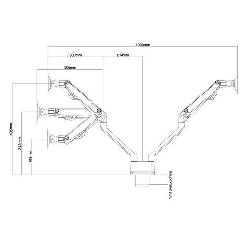 NewStar FPMA-D750DSILVER Monitorbeugel