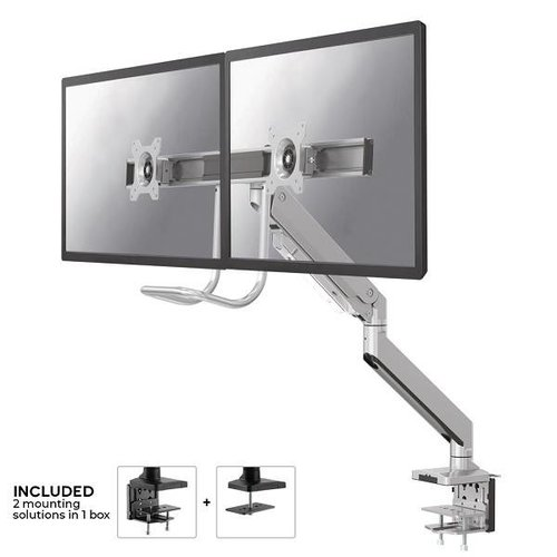 NeoMounts NM-D775DXSILVER Monitorbeugel