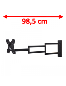 DQ Wall-Support Rotate XL Black 98,5 cm TV Beugel