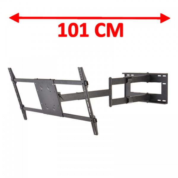 DQ Wall-Support Reach XXL 101 cm Black TV Beugel