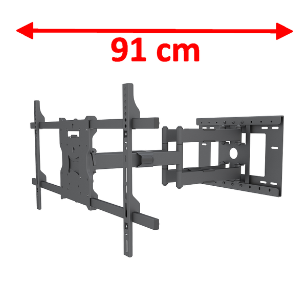 DQ Wall-Support ATLAS 91 CM BLACK Extra Lange TV Beugel