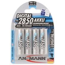 ANSMANN 4X Oplaadbare AA Batterijen 2850mAh