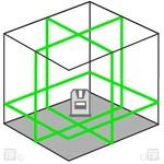 Lijnlaser met groene laserlijnen