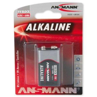 ANSMANN ALKALINE 9V-BLOCK OF 6LR61 BATTERIJ