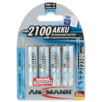 ANSMANN 4X Oplaadbare AA Batterijen 2100mAh