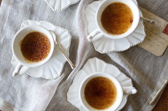 Koken met thee: Crème brûlée