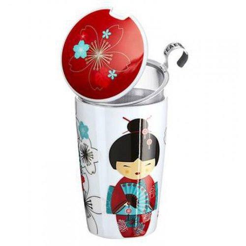 TeaEve Tea eve 'Little Geisha Red ' met theezeef