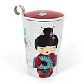 TeaEve Theemok 'Little Geisha Red ' met theezeef