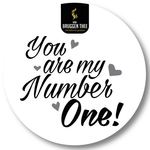 Van Bruggen Thee You are my number ONE cadeaupakket