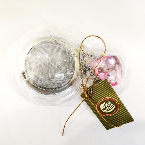 ChalCult Charming theefilterbal met hanger - Diamanten hart