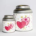 van Bruggen thee Valentijns theeblik klein met zakje thee 50 gram
