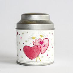 Valentijns theeblik klein 50 gram