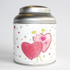 Valentijns theeblik groot 100 gram
