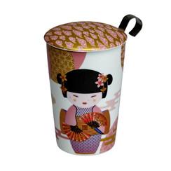Tea eve 'Little Geisha Rose' met theezeef