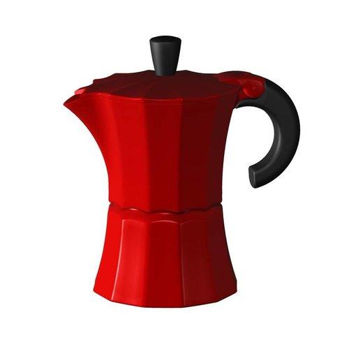 gnali & zani Rode Morosina Espressomaker 6 kops