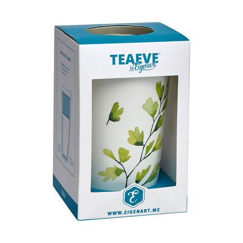 """EigenArt TeaEve """"Trees"""" Green Dubbelwandige theemok"""