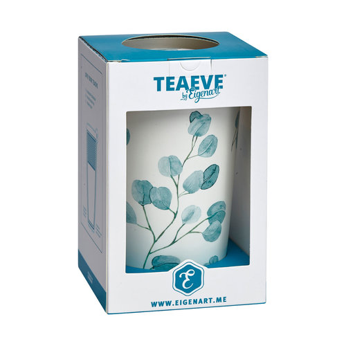 "EigenArt TeaEve ""Eucalyptus"" Blue Dubbelwandige theemok"