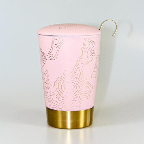 EigenArt Tea eve roze metal mok