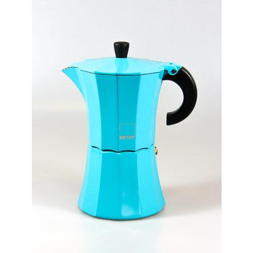 gnali & zani Blauwe Morosina espresso maker 6kops