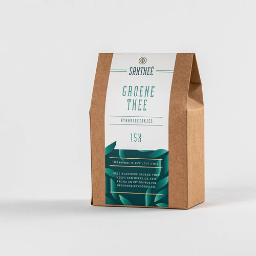 Santheé Groene thee naturel piramidezakjes