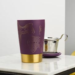 Tea eve purple metal