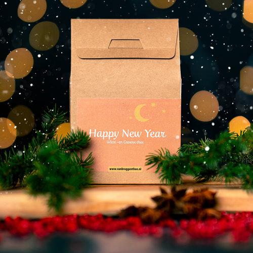 van Bruggen thee Happy new year cadeauhuisje losse thee